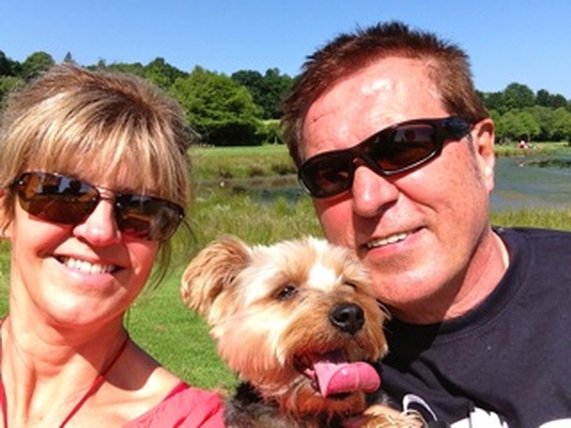 Sue & Tom with Rosie, one of their favourite companions