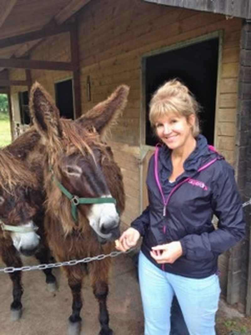 There were a few extra responsibilities looking after these donkeys (a special French breed complete with dreadlocks!)