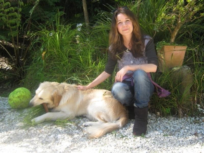 Caroline with dog
