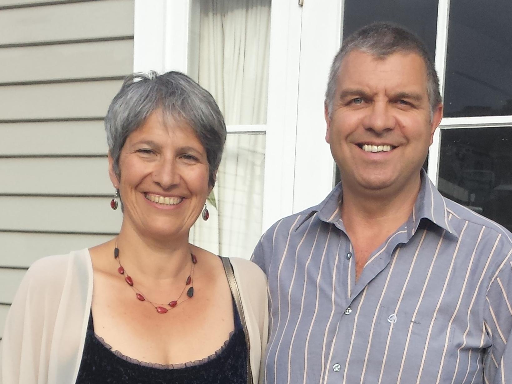 Lefki & Dave from Wellington, New Zealand