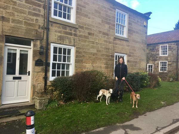To stay in our cottage, walk and care for our dogs