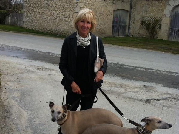 Beautiful home on small French vineyard and two lovely whippets