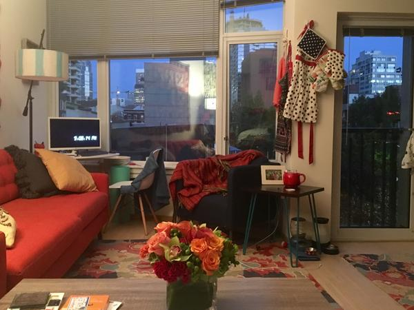 Tiny Seattle Studio with a Tiny Seattle Cat