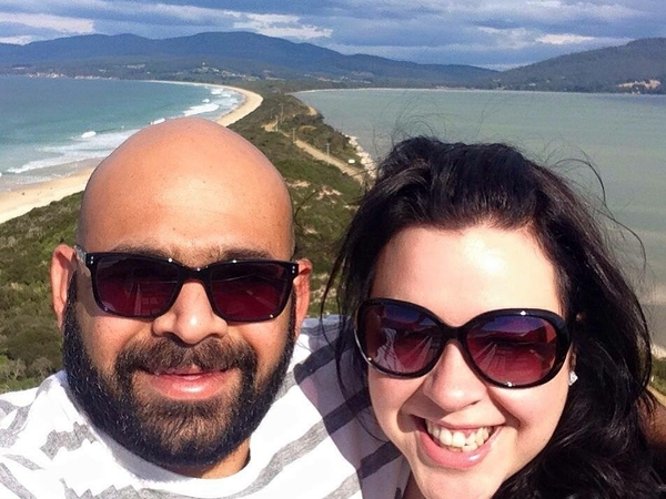 Belinda & Arvind from Launceston, Tasmania, Australia