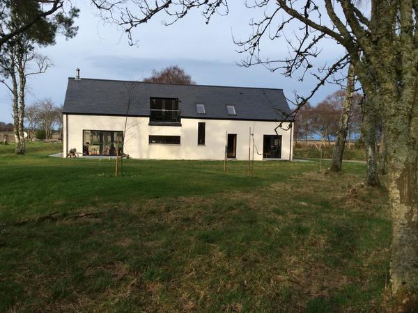Mr Tibbs' house in Speyside.