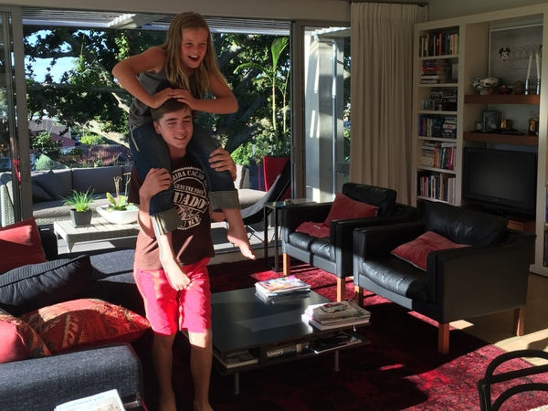 Comfortable park retreat in Remuera with a puppy