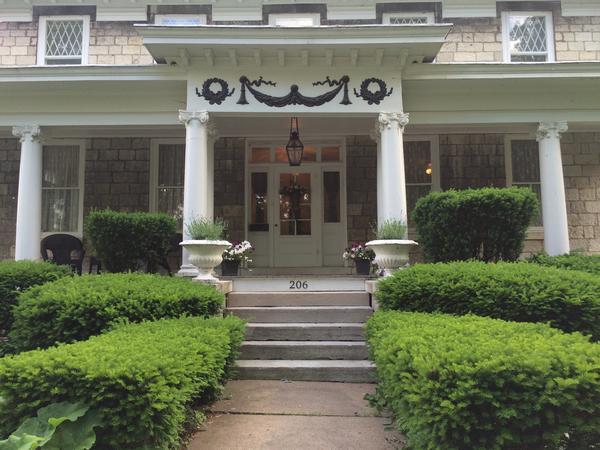 National Register Home & Golden Retriever