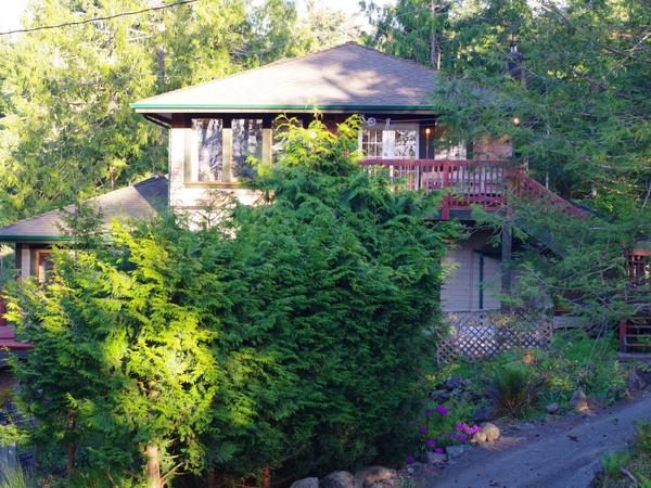 Studio overlooking the forest, gardens and the protected waters of the Sooke Basin.