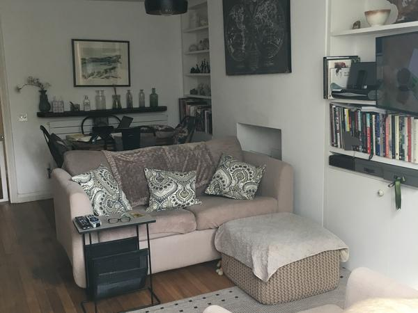 Lovely flat on Clapham Common with two small cuddly dogs