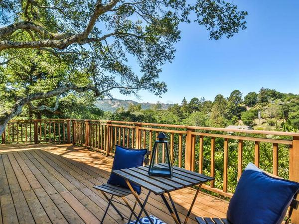 House with deck view in Orinda, CA